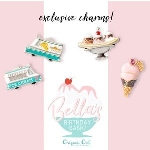 Origami owl  ice cream  charms